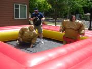 Sumo wrestling is just one of the activities organized for residents at the Campus Corner Apartments.