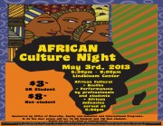 Purchase a ticket for the African Culture Night; $3 for GRCC students and $8 for non-GRCC students.