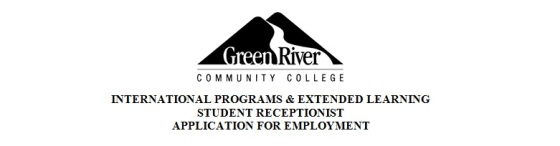 Looking for a job? Apply as a Student Receptionist; deadline is March 26th, 5:00pm. Good luck!